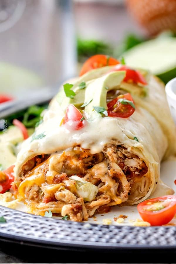 EASY SLOW COOKER SHREDDED MEXICAN CHICKEN