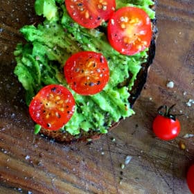 Smooshed Avo on Toast.