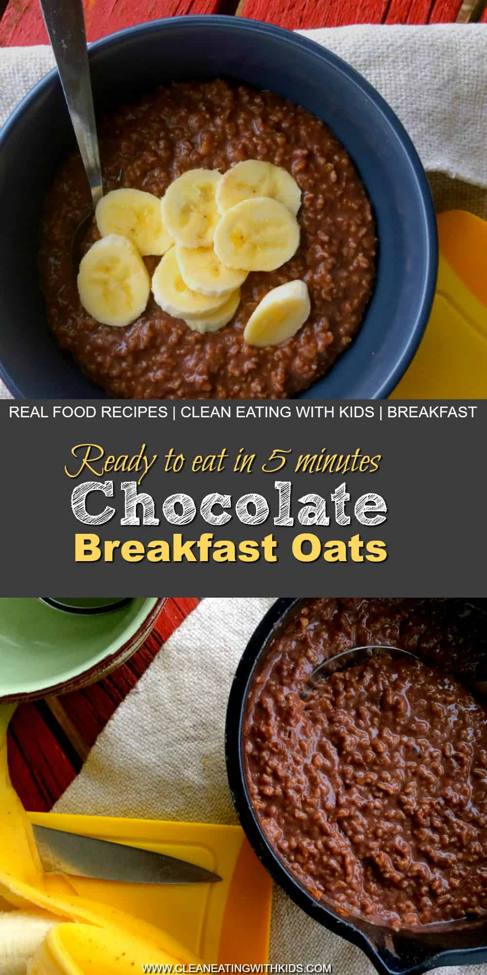 clean eating chocolate oatmeal