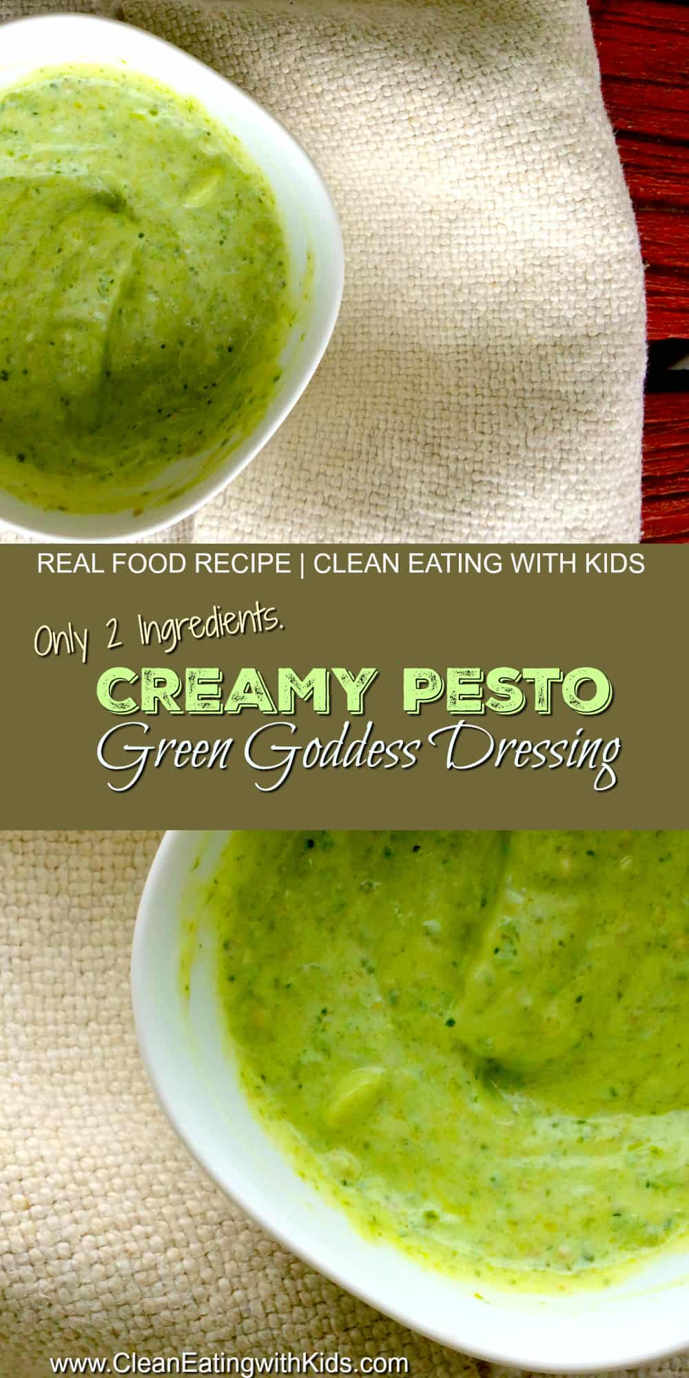 creamy pesto dressing