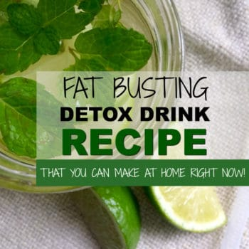 Fat flushing detox drink recipe.