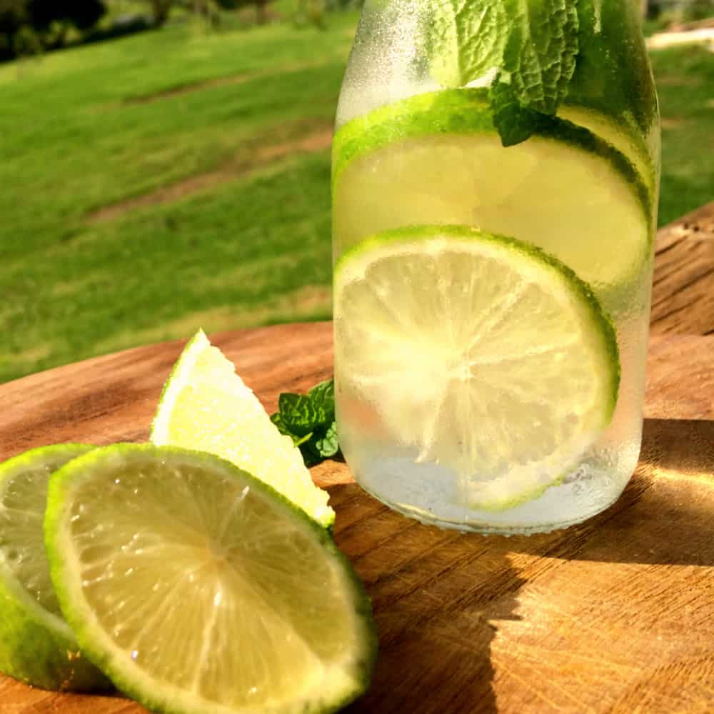 Lime and Mint Water Infusion - This was so easy! And tasted amazing and it looked really cool on the table too.