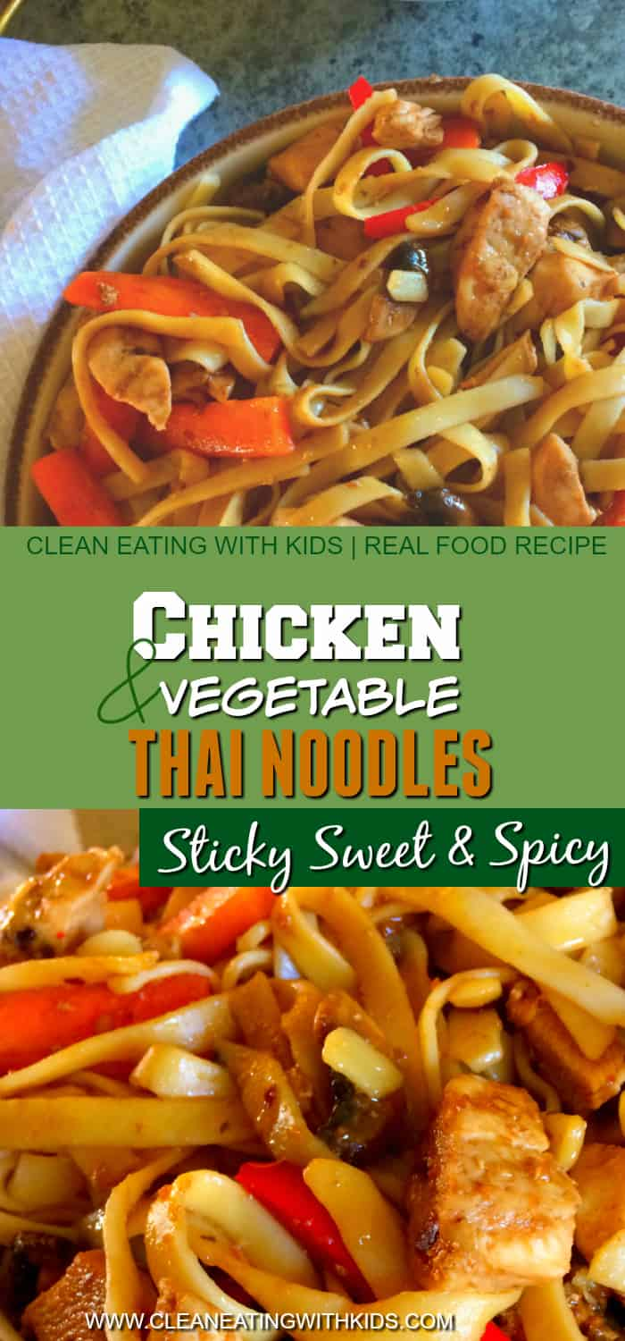 Spicy Thai Noodles - So damn delicious! My kids love it!