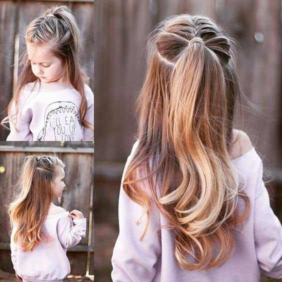 Easy 5 minute hairstyles for busy school mornings.