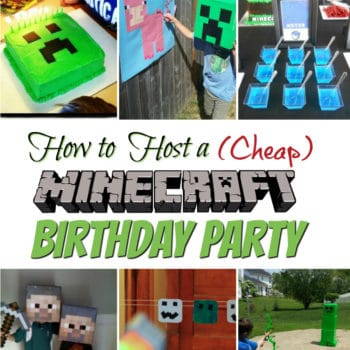 Step by Step instructions on how to host a cheap Minecraft Birthday Party that your Minecrafting Child would LOVE!