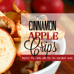 Clean Eating Cinnamon Apple Crisps