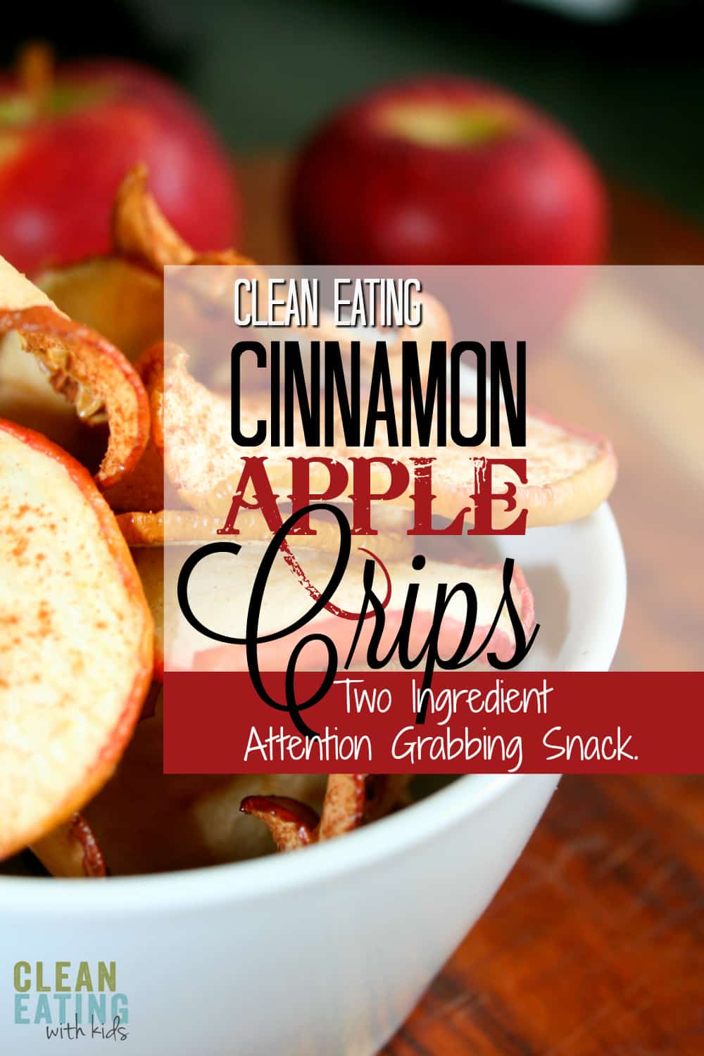 OK if I had to choose one recipe to impress the other parents. This is it. Two Ingredient clean eating cinnamon apple crisps!
