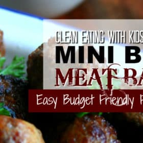 Clean Eating Mini Beef Meat Balls
