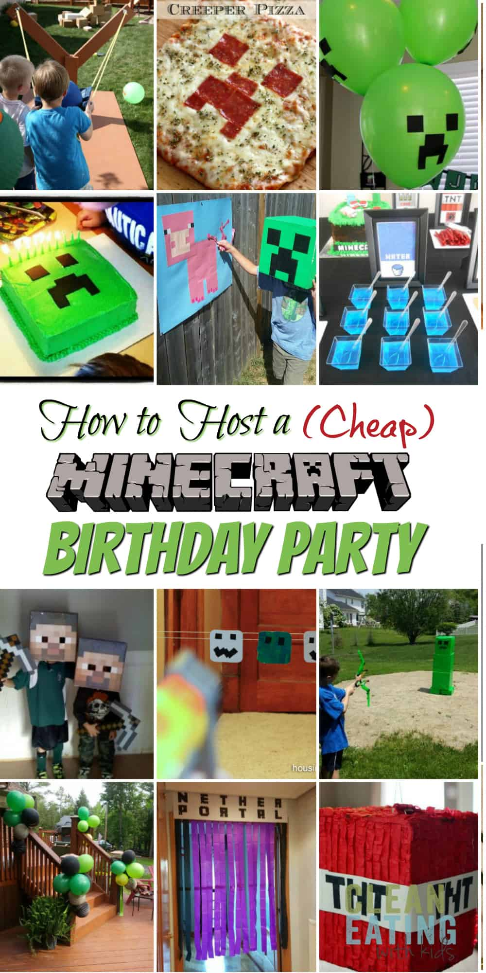 image about Minecraft Labels Printable known as How in direction of Host a (Low-cost!) Minecraft Birthday Bash (with