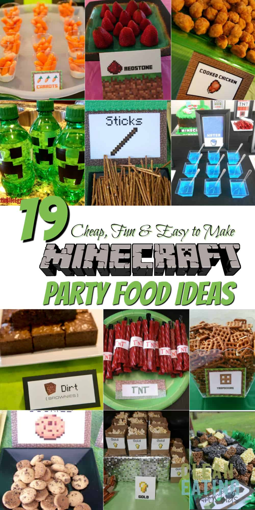 graphic regarding Minecraft Free Printable Food Labels named How toward Host a (Affordable!) Minecraft Birthday Occasion (with
