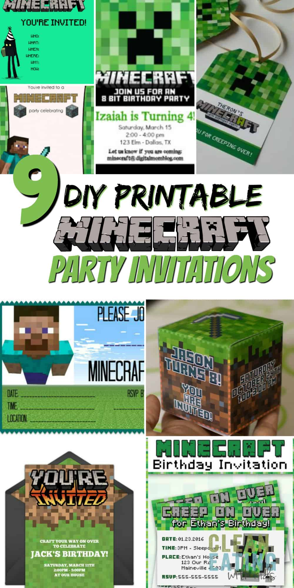 image regarding Minecraft Invitations Printable referred to as How in direction of Host a (Inexpensive!) Minecraft Birthday Social gathering (with