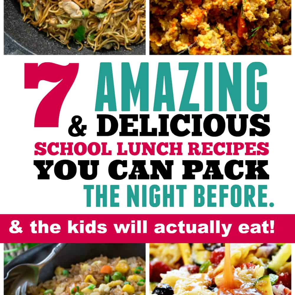 7 Back to School Lunches That Your Kids Will Actually Eat (& You can prep the night before)