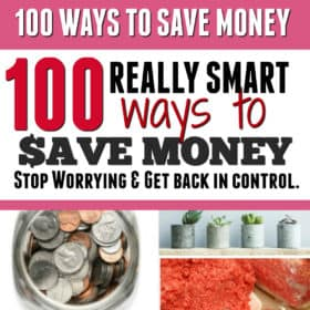 100 (UPDATE: Now 200) Money Saving Ideas + Printable Checklist and Money Saving Challenges