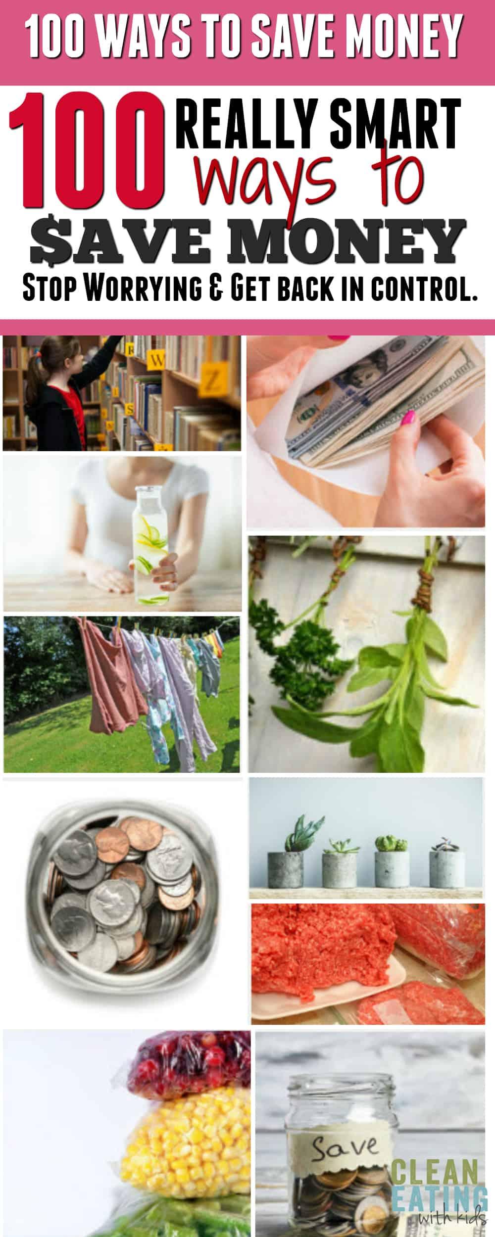100 (UPDATE: Now 200) Money Saving Ideas + Printable Checklist and Money Saving Challenges