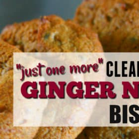 Clean Eating Ginger Ninja Biscuits (Sweetened with DIY Date Puree)