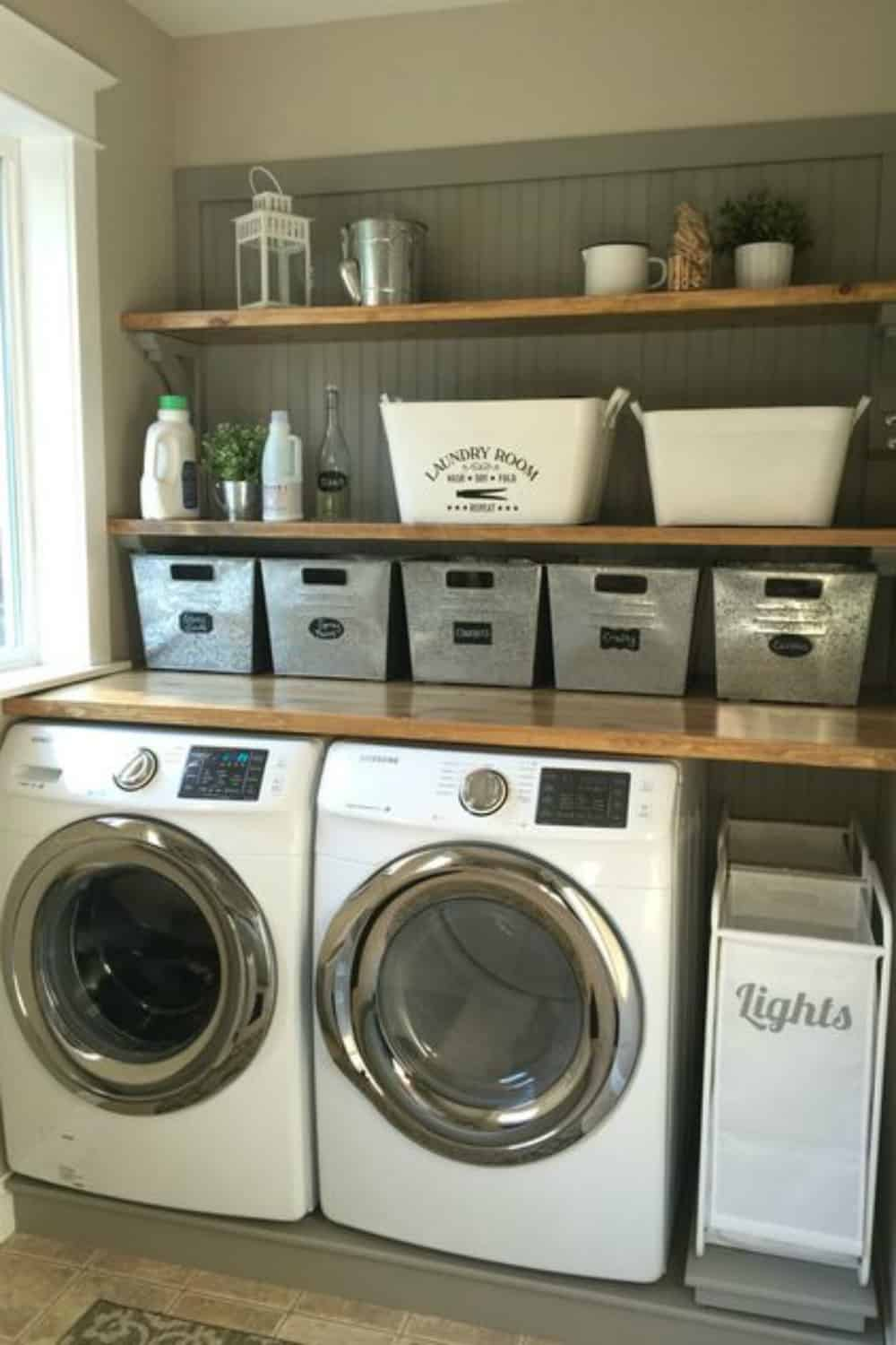 10 Stylish and small laundry areas that will make you want to actually do the laundry!