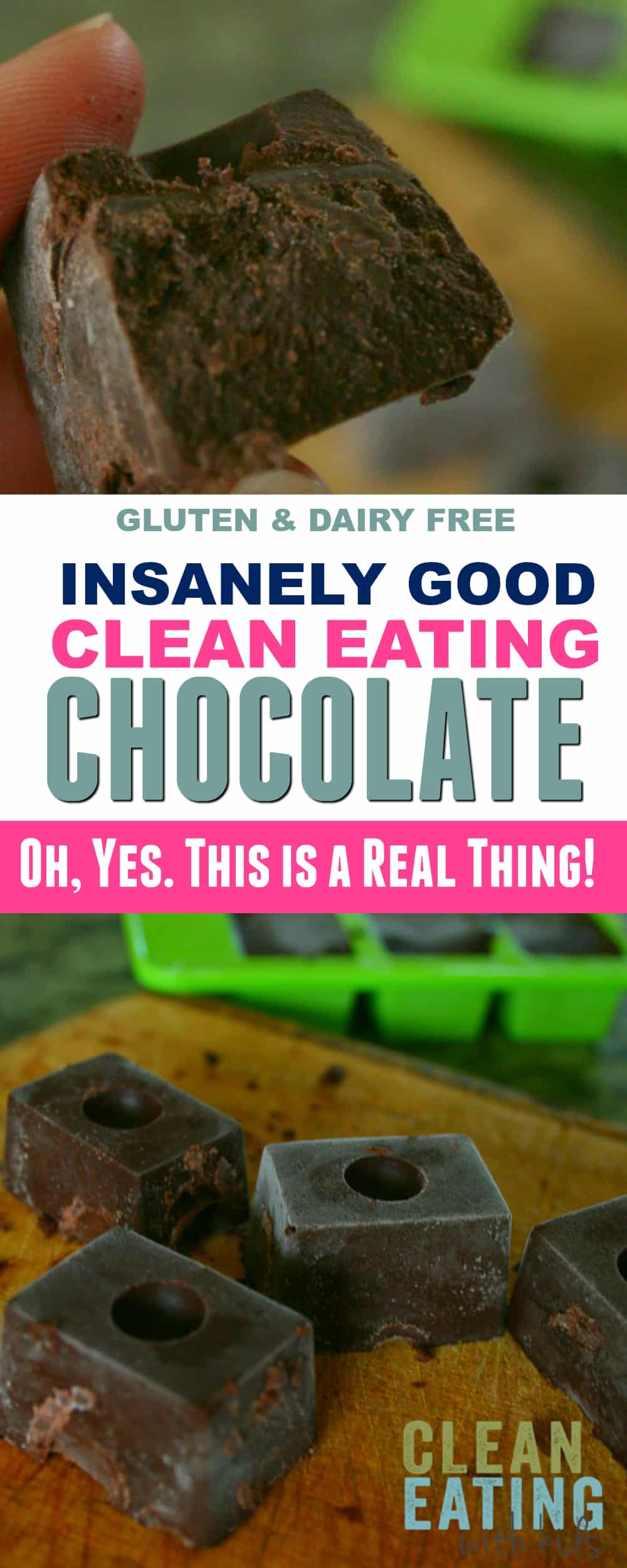 insanely good Clean Eating Chocolate!! Seriously this stuff rocks!