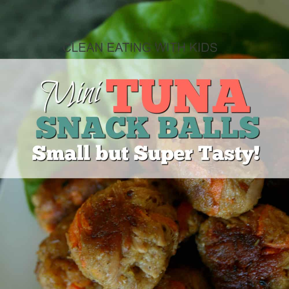 Quick, easy and delicious Clean Eating snack sized tuna balls! Best thing is you make them using canned tuna. Kid Friendly & Budget friendly!