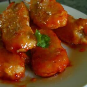Clean Eating Sweet & Sour Orange Chicken Kebabs