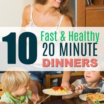 Coming home too tired and late to cook dinner? Try these Fastand Healthy 20 MINUTE {OR LESS} Dinners.