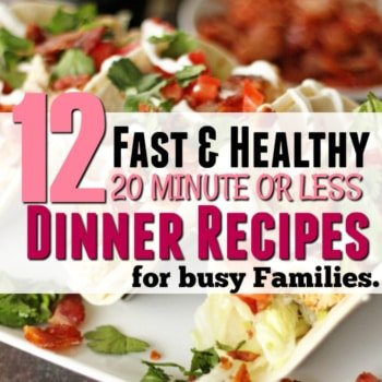 Wow. Seriously. Wow! OK so not only are these really quick and easy recipes for week night dinner (20 minutes baby) but Oh boy they are delicious! My kids are constantly asking for seconds of the Mexican skillet and two of them are SO picky! So many of these are so quick and easy to make- this sorts out an entire two weeks of dinner planning (we had leftovers twice).