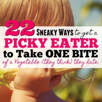 "22 Ways to Trick your Picky Eater to have ""One Bite"" of a Vegetable (they think) they hate"