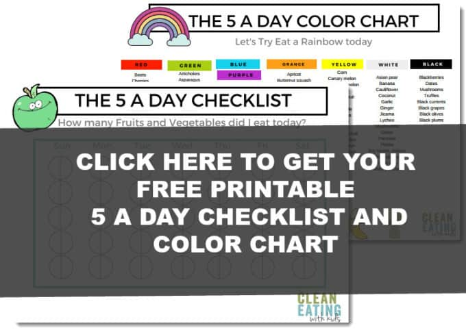 5 A Day Color Chart Download Clean Eating With Kids