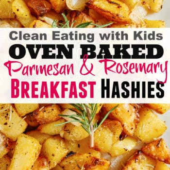 Oven Baked Parmesan and Rosemary Breakfast Hashies