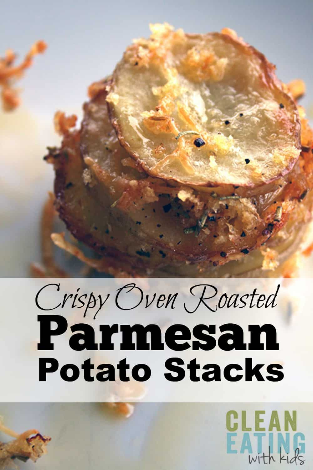 Crispy Parmesan Potato Stacks. Simple, Really delicious and look a little fancy too.