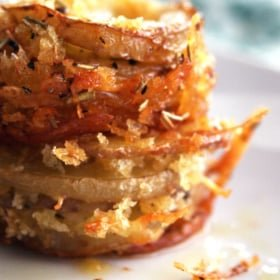 Roasted Parmesan Potato Stacks