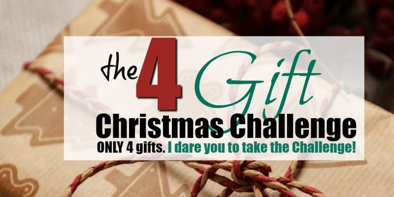 I Dare You to Take The 4 Gift Challenge this Christmas
