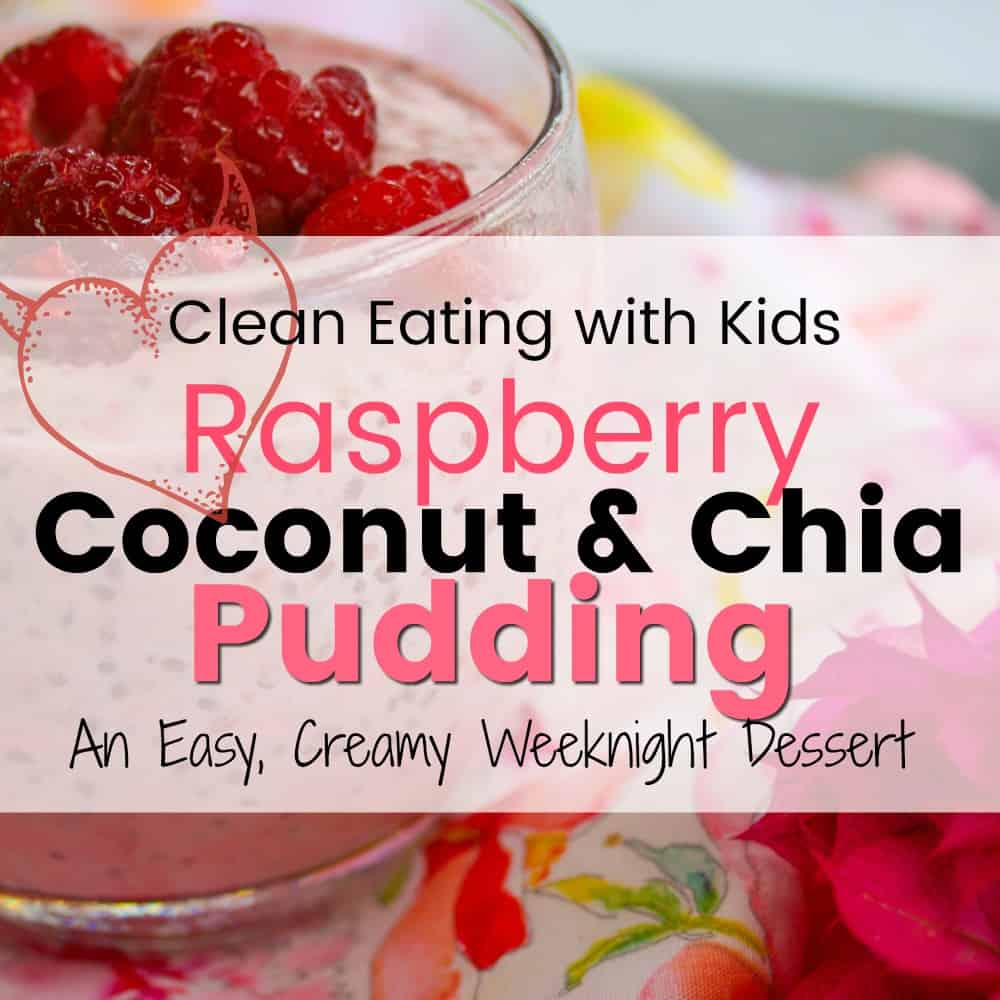 My kids go crazy for this Raspberry, Coconut and Chia Seed Pudding! It's thick, creamy & really easy to make.