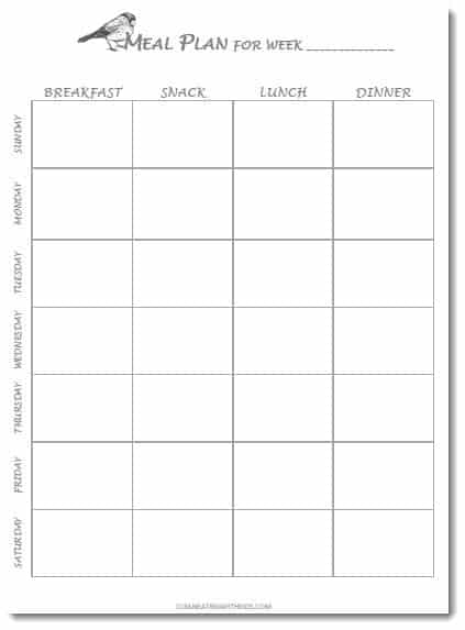 photo about Weekly Meal Planning Printable named Totally free Printable Weekly Dinner Software Template - New Having with