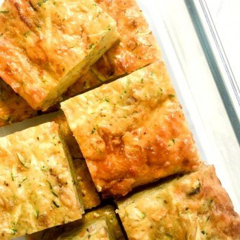 Fussy Kid Approved!! This is an all time lunchbox favourite!! Easy Clean Eating Zucchini and Bacon Slice.