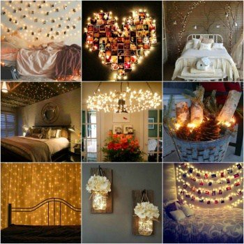 12 Cheap but Beautiful DIY Fairy Light Decor Ideas for Every Room in the House