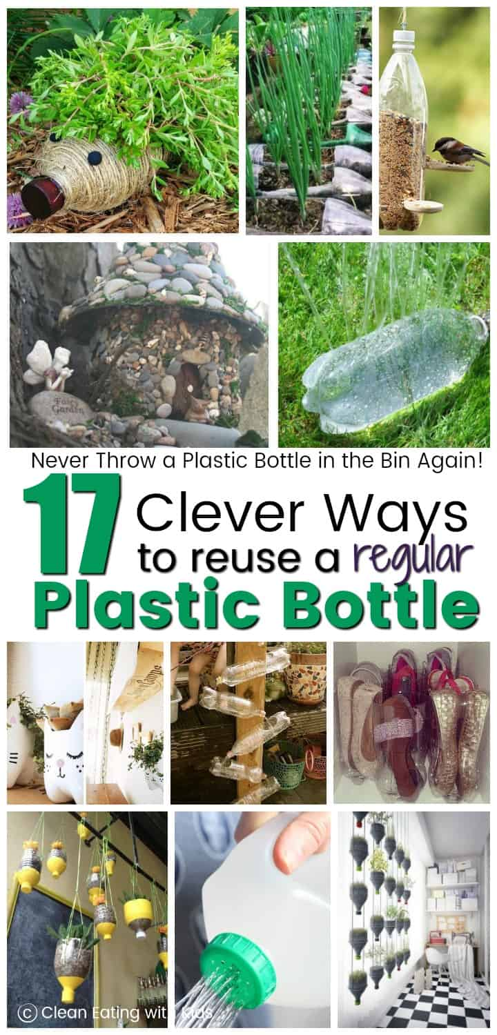 Never throw a plastic bottle in the bin again: 17 insane cool ways to reuse a regular plastic bottle.