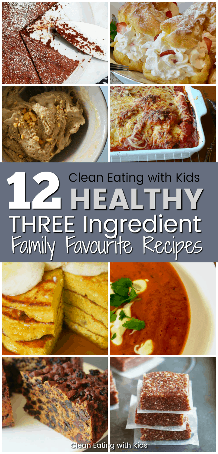 12 healthy three ingredient recipes anyone can make. #threeingredientrecipes #cleaneatingrecipes