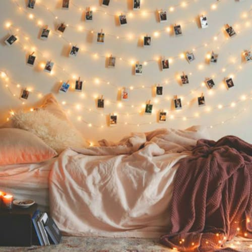 Its Amazing What A Simple Sting Of Fairy Lights Can Do To Transform Room