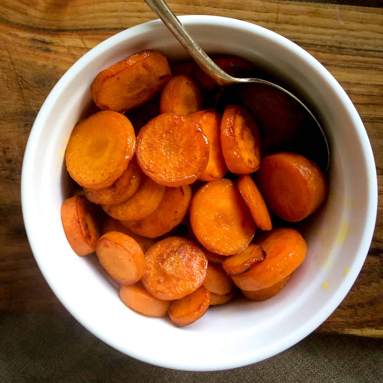 Simple Home Cooked Honey Glazed Carrots.