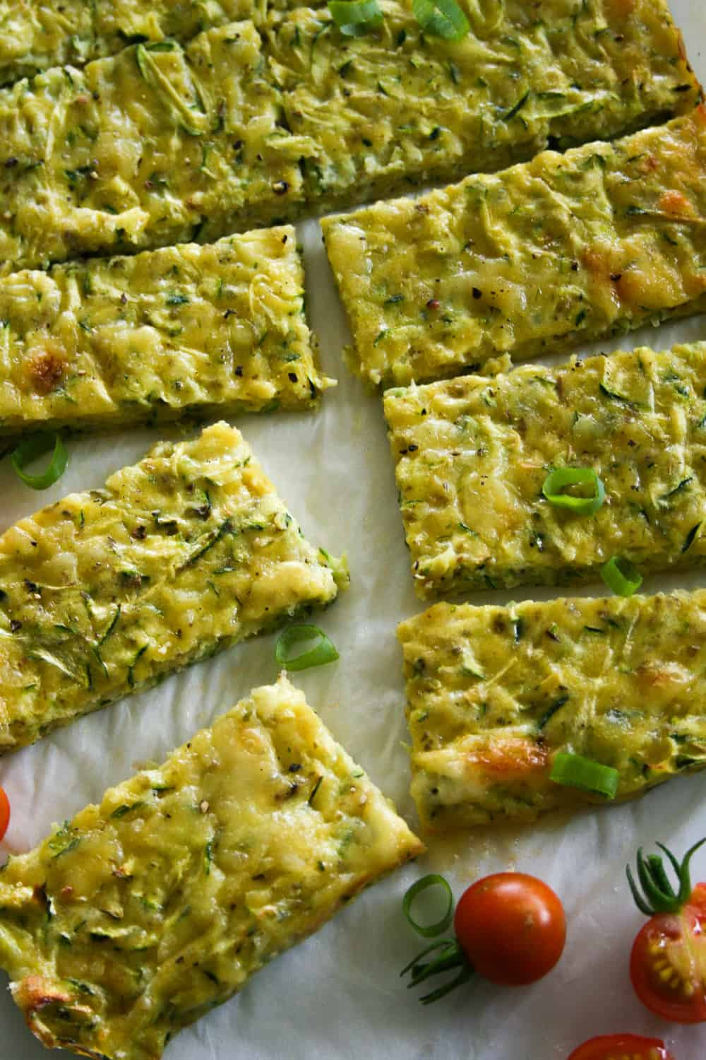Easy Clean Eating Cheese and Zucchini Slice. It's super easy to make and perfect for school lunch boxes or light lunch.