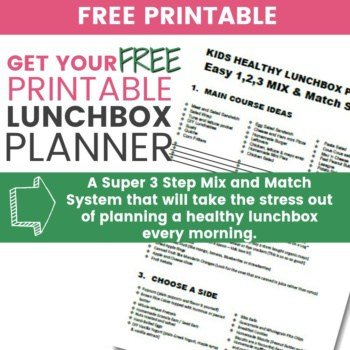 Tired of trying to decide What to Put in the School Lunchbox every morning? This is what you need! A Free Lunchbox Planner. Print it, stick it on the fridge and never be stuck again! #schoollunches #lunchbox #cleaneating