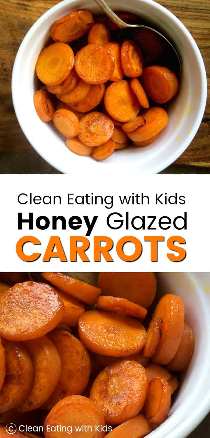 Looking for a way to get the kids to eat more vegetables? Give these Caramelized Honey Glazed Carrots a try. #cleaneating #glazedcarrots