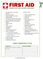 Zany image throughout first aid printable