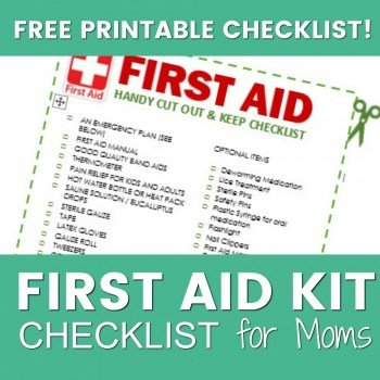 What to Keep in your Mommy First Aid Kit