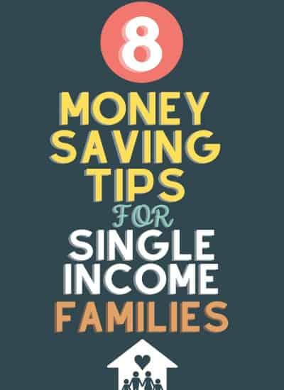money saving tips for single income families