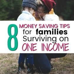 8 Tips for Families living on a Single Income