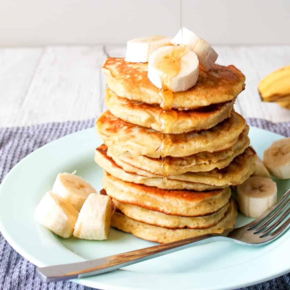 Clean Eating Banana Pancakes