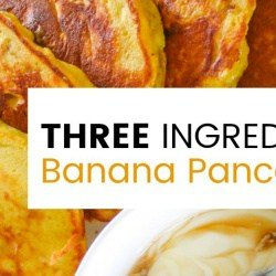 These Clean Eating Three Ingredient Banana Pancakes are quick and easy to make. Dairy free and Delicious! The perfect way to start the weekend.