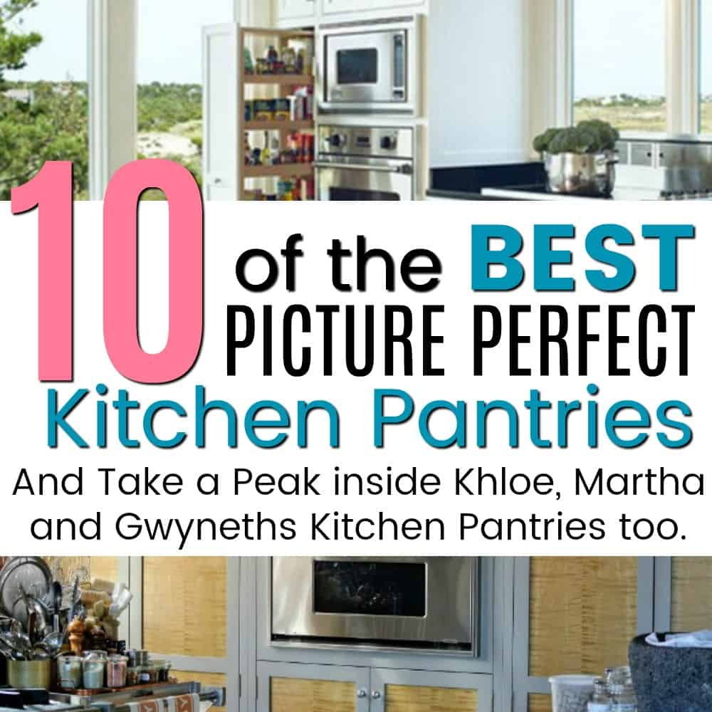 10 of the most picture perfect kitchens and a peak inside Gwyneth, Martha and Khloes Kitchens.