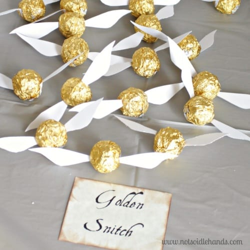 picture about Golden Snitch Printable named How in direction of Host a Magical Harry Potter Birthday Celebration + Cost-free 8
